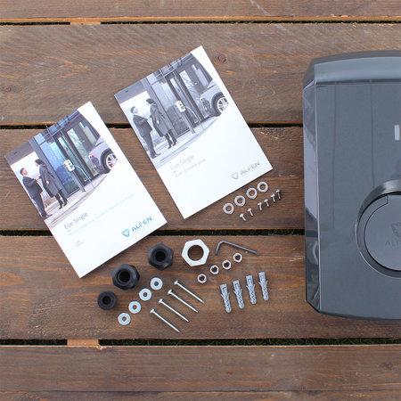 Alfen  Eve Single S-line - 3 x 16A (11kW) - Grijs - Socket - Plug & Charge