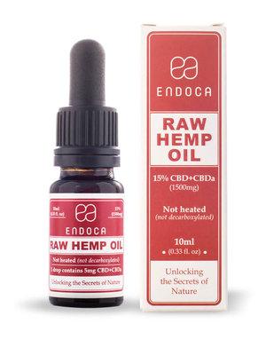 Endoca Bio 15 % CBD & CBDa / Rohes Öl (nicht erhitzt)