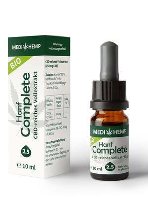 Medihemp Bio Hanf Complete Öl 2,5% CBD