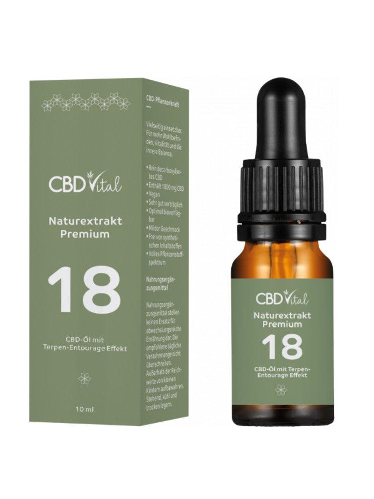 CBD-Vital Bio Naturextrakt Premium 18%  CBD