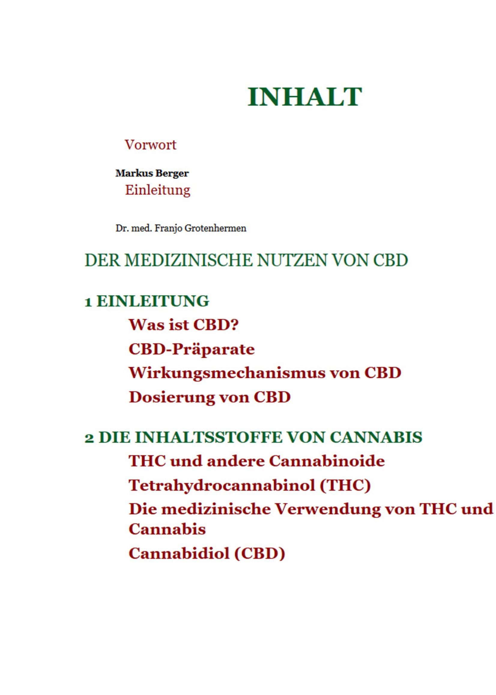 Dr. med Franjo Grotenhermen, Cannabidiol CBD