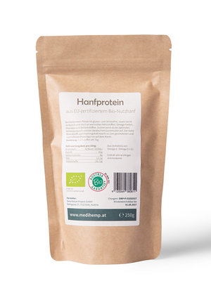 Medihemp Bio-Hanfprotein aus zertifiziertem Bio Nutzhanf
