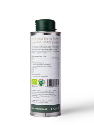 Medihemp Bio-Hanfnussöl aus zertifiziertem Bio Nutzhanf - Copy