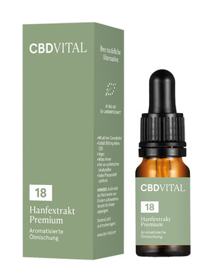 CBD-Vital Bio Hanfextrakt Premium 18%
