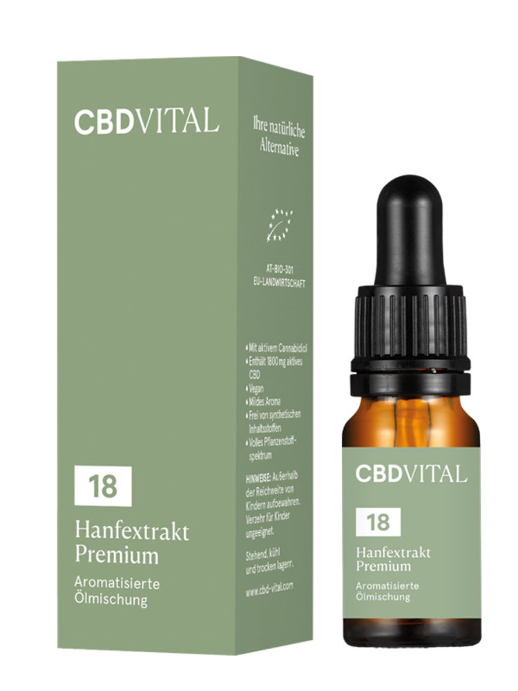 CBD-Vital CBD-Vital Bio Hanfextrakt Premium 18%
