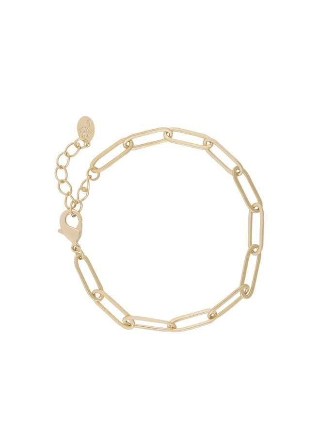 CHAIN BRACELET GOLD-PLATED