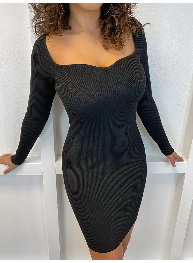 GLITTER BODYCON BLACK
