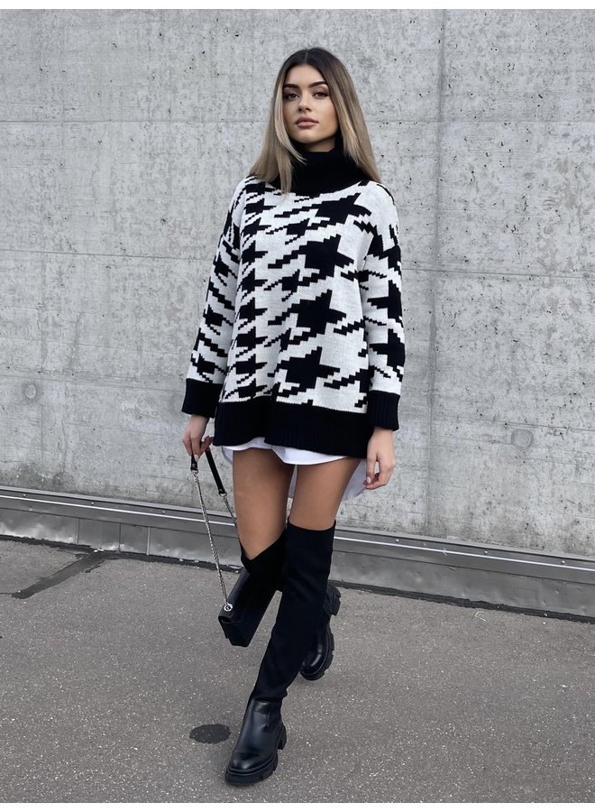 SWEATER HOUNDSTOOTH