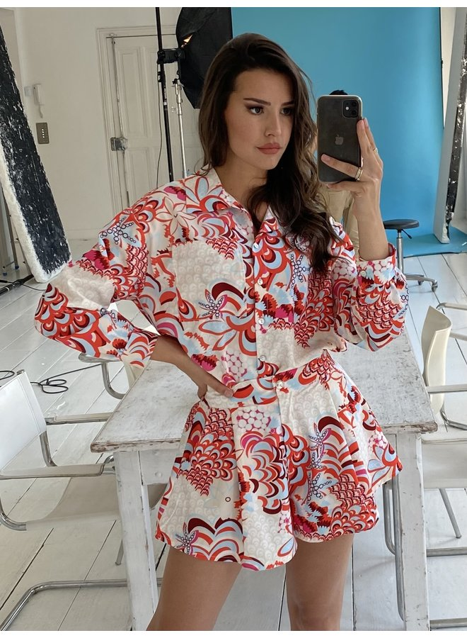 PRINTED TWO PIECE RED