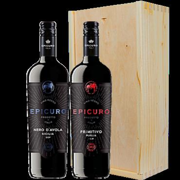 Wijnkado Italië Epicuro Primitivo di Manduria & Nero d' Avola