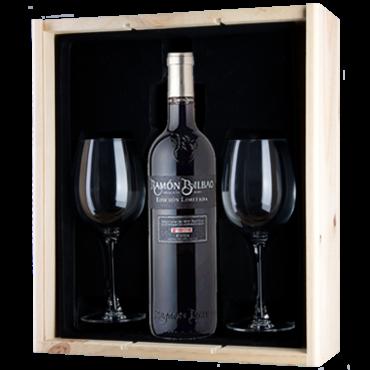 Wijnkado Ramón Bilbao Edicion Limitada met wijnglazen
