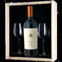 Wijnkado Salentein Primus Malbec met 2 wijnglazen