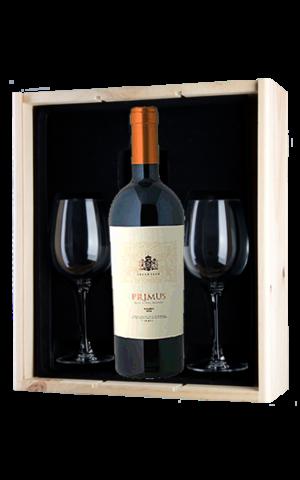 Salentein Wijnkado Salentein Primus Malbec met 2 wijnglazen
