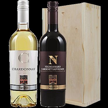 Wijnkado Italië  Epicuro Chardonnay & Negroamaro