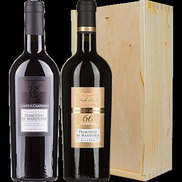 Wijnkado Conte Di Campiano Primitivo & Primitivo Riserva