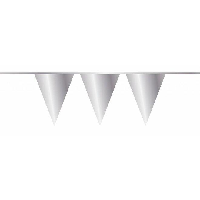 Vlaggenlijn Metallic Zilver 10M