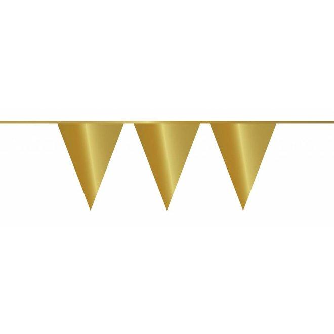 Vlaggenlijn Metallic Goud 10M