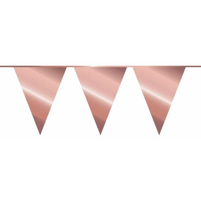 Vlaggenlijn Metallic Rosé Goud 10M
