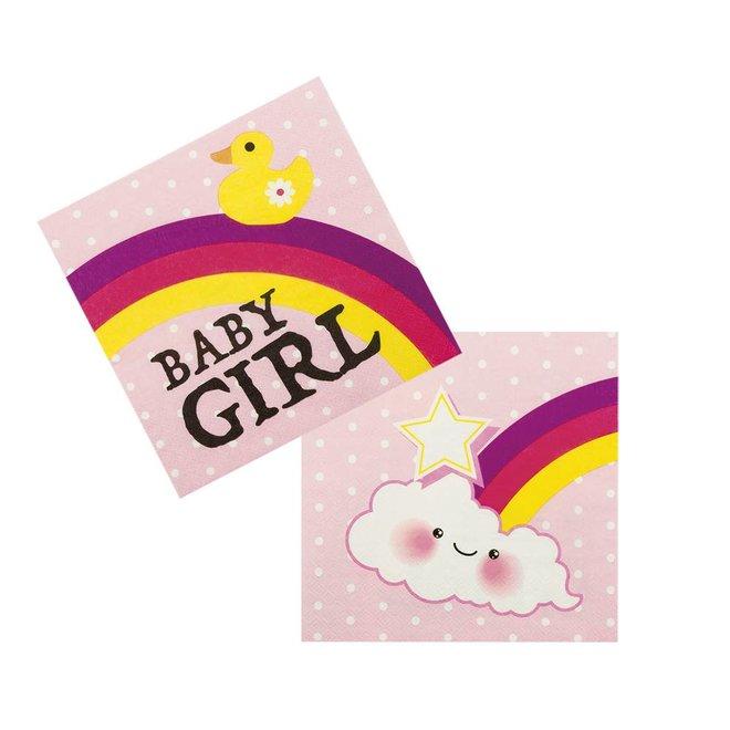 Servetten Baby Girl (20ST)