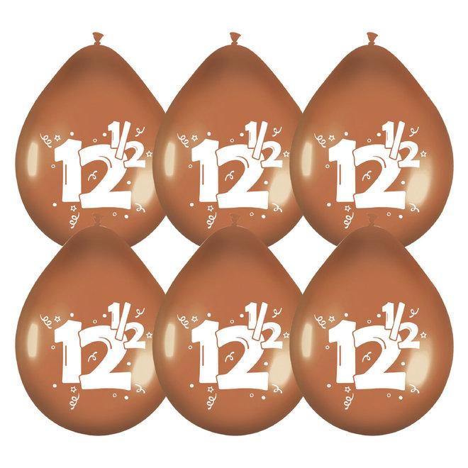 Ballonnen Metallic Brons / Roodkoper 12,5 (6ST)