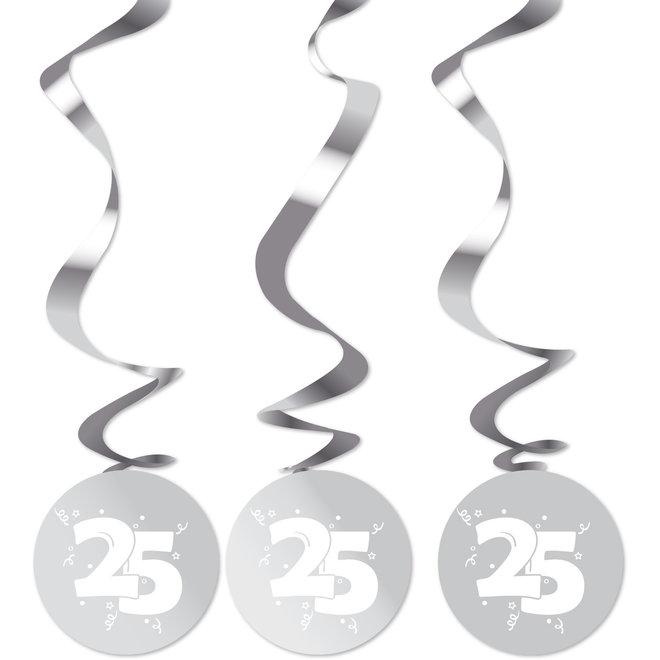 Rotorspiralen Metallic Zilver 25 (3ST)