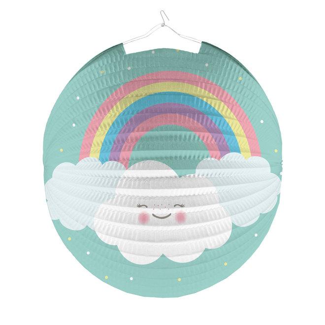 Lampion Rainbow & Clouds 25cm (1ST)