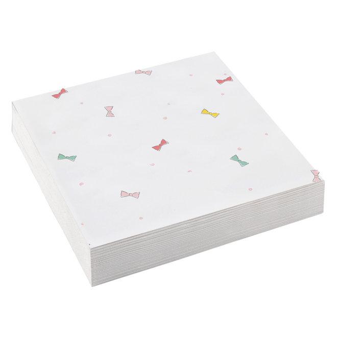Servetten Strikjes Multicolor 25cm x 25cm (20ST)
