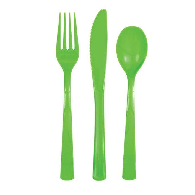 Plastic Bestek Lichtgroen (18ST)