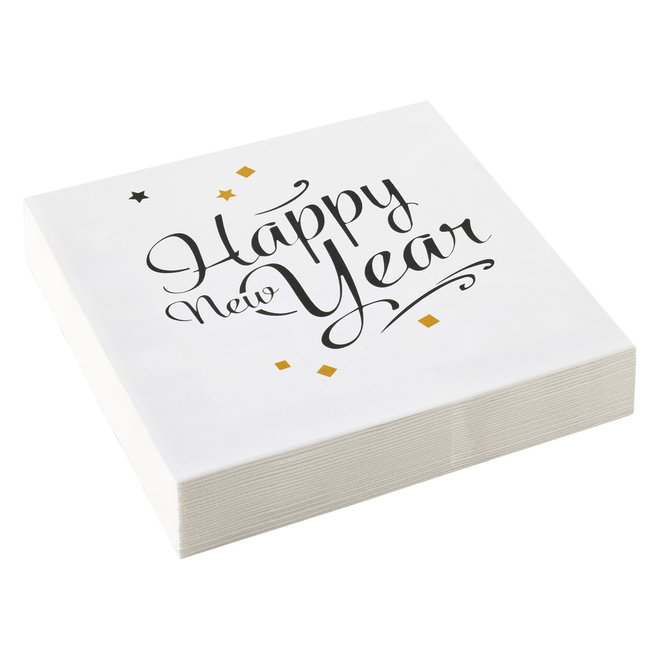 Servetten Happy New Year 33cm x 33cm (20ST)