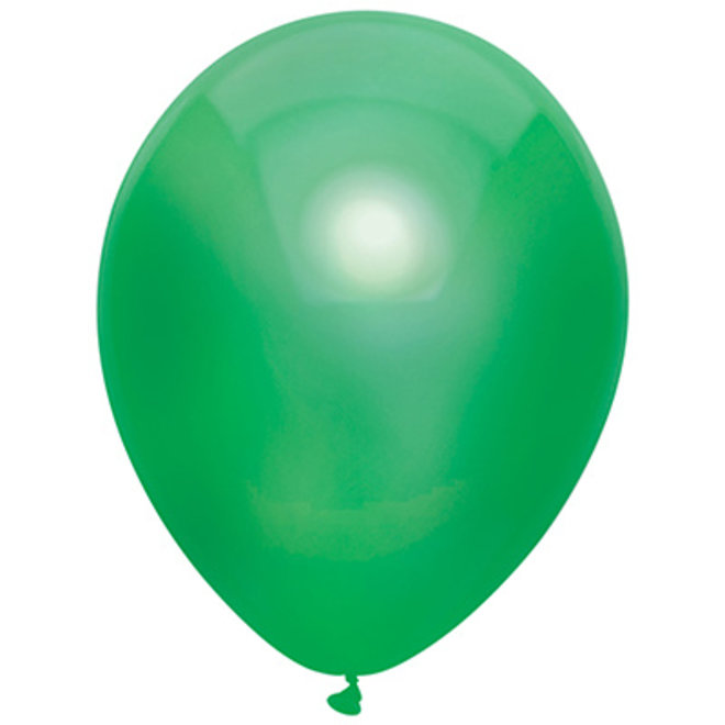Ballonnen Metallic Donkergroen (15ST)