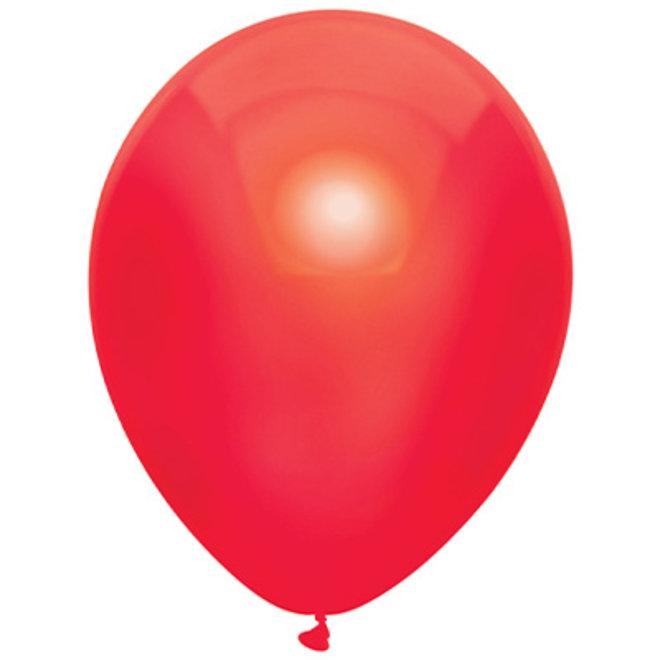 Ballonnen Metallic Rood (15ST)