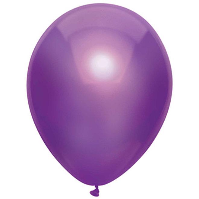 Ballonnen Metallic Paars (15ST)