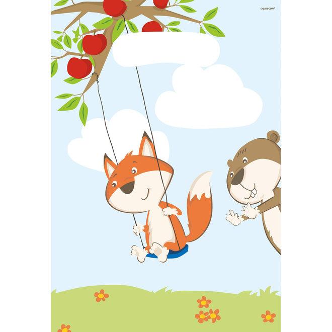 Uitdeelzakjes Fox & Beaver (8ST)