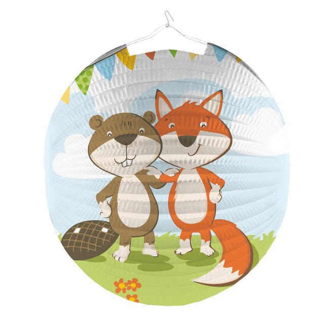 Lampion Fox & Beaver 25CM