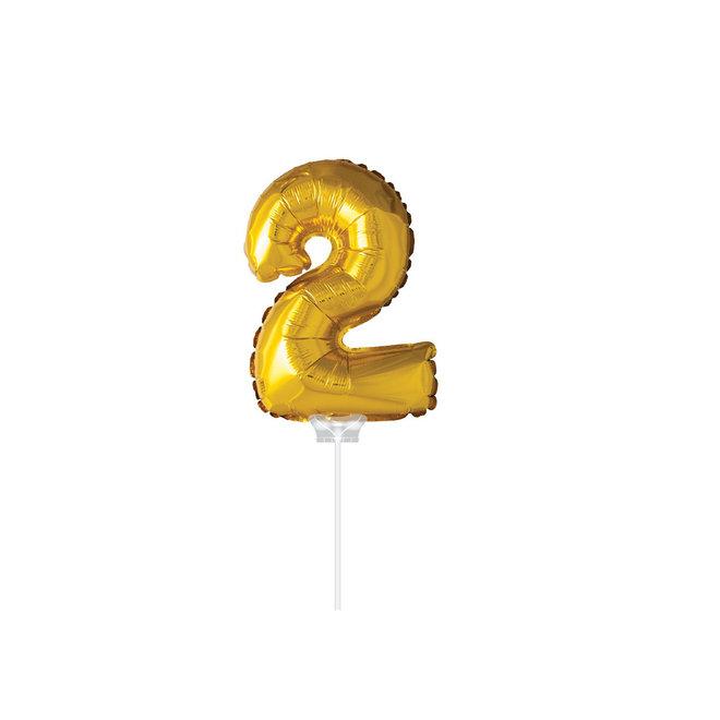 "Folie Ballon ""2"" Goud (40CM)"