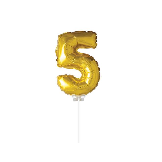 "Folie Ballon ""5"" Goud (40CM)"