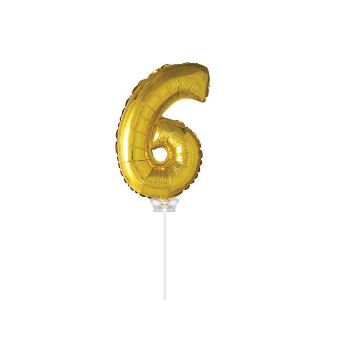 "Folie Ballon ""6"" Goud (40CM)"