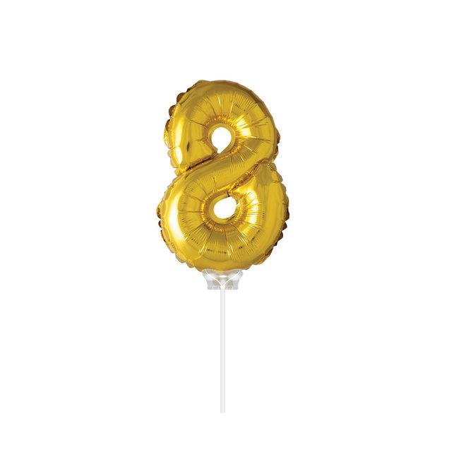 "Folie Ballon '8"" Goud (40CM)"