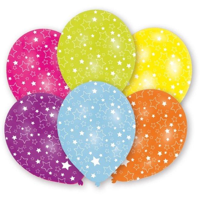 Ballonnen Metallic Stars 27.5CM (6ST)
