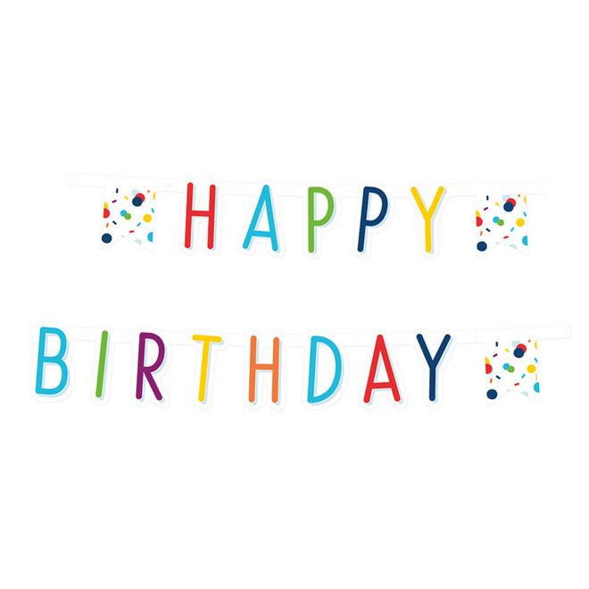 """Letterslinger Confetti Birthday """"Happy Birthday""""  1.8M"""