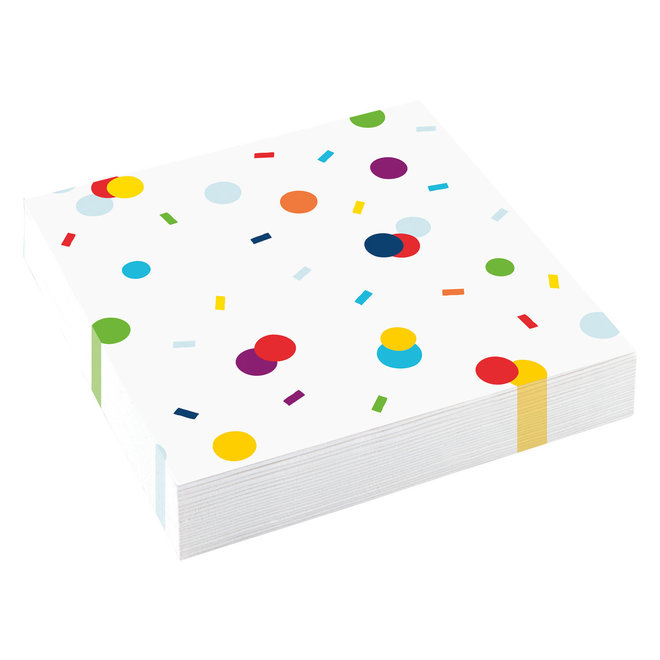 Servetten Confetti Birthday Dots 33cm x33cm (20ST)