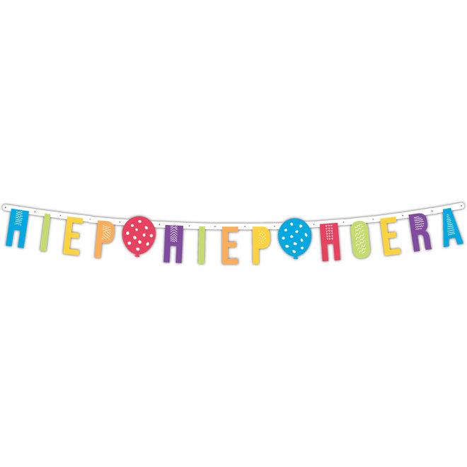 Letterslinger Hiep Hiep Hoera Multicolor 2.2M