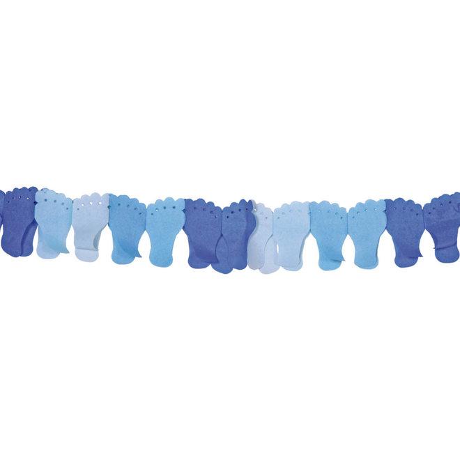 Papieren Geboorte Slinger Blauw Baby Voetjes 6M