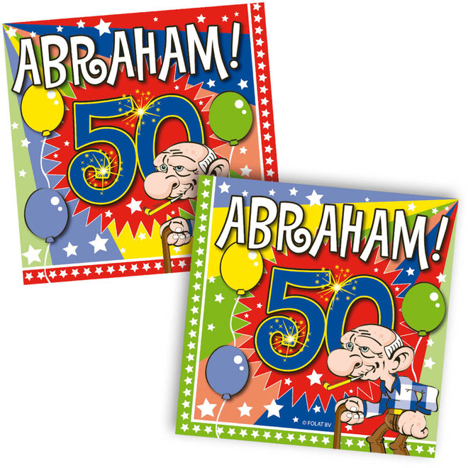Servetten Abraham 25cm x 25cm (20ST)