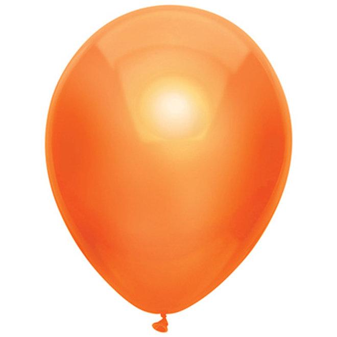 Ballonnen Metallic Oranje 30CM (100ST)