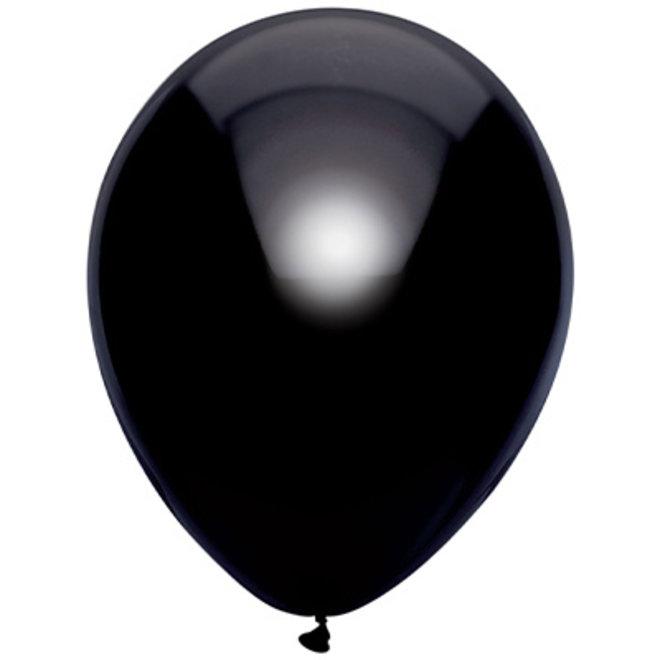 Ballonnen Metallic Zwart 30CM (100ST)