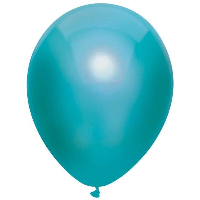 Ballonnen Metallic Teal 30CM (15ST)