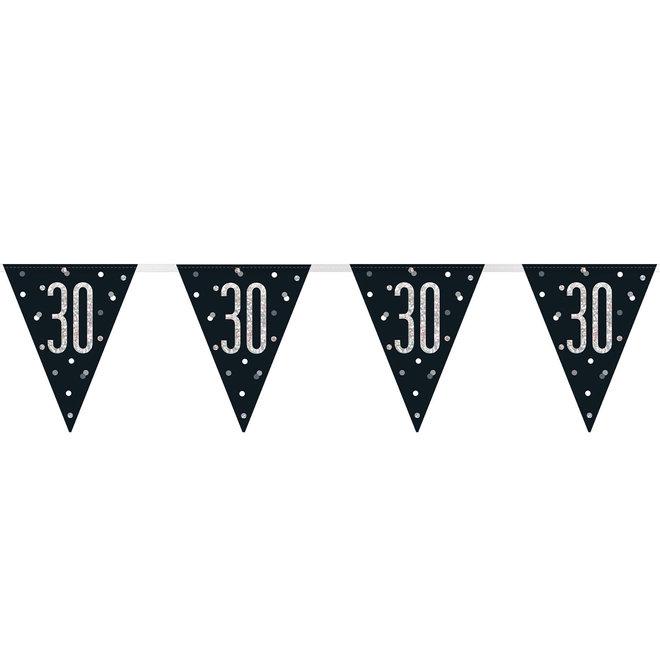 Vlaggenlijn 30 Jaar Zwart & Zilver 2.75M