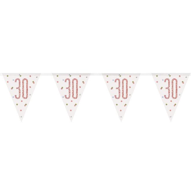 Vlaggenlijn 30 Jaar Rosé Goud & Wit 2.75M