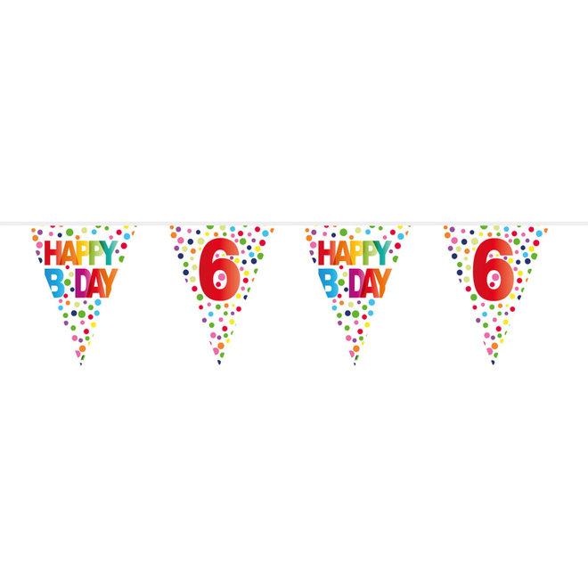 Vlaggenlijn 6 Jaar Happy Birthday (10M)